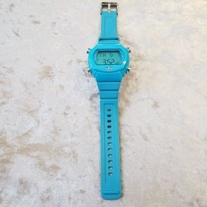 Adidas blue rubber watch.